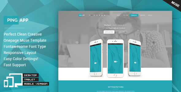 ThemeForest PingApp One Page Parallax Muse Theme 11514728