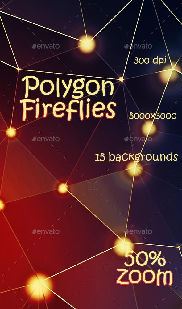 GraphicRiver Polygon Fireflies 11514729