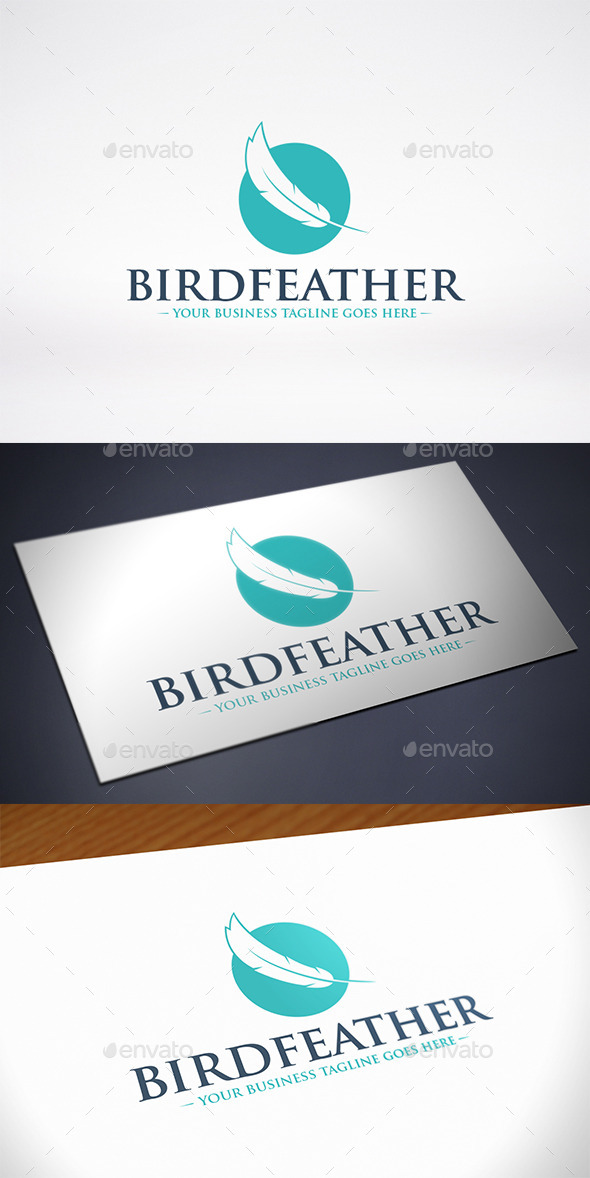 GraphicRiver Bird Feather Logo Template 11515099