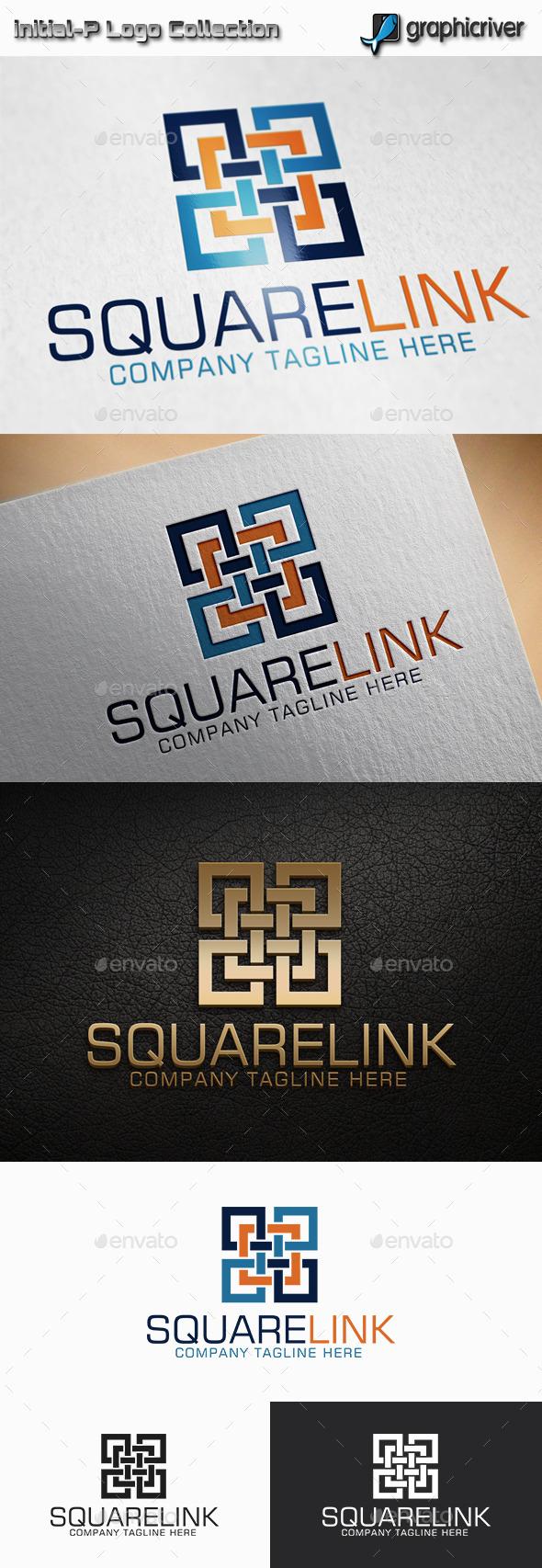 GraphicRiver Square Link Square Combunation Logo 11515106