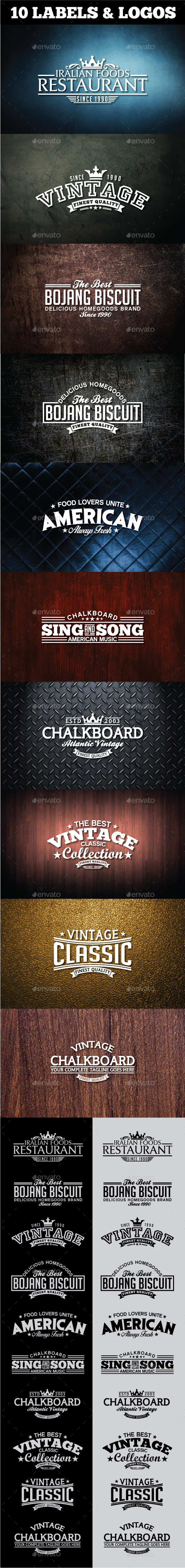 GraphicRiver Retro Vintage Logotypes and Stickers 11515108