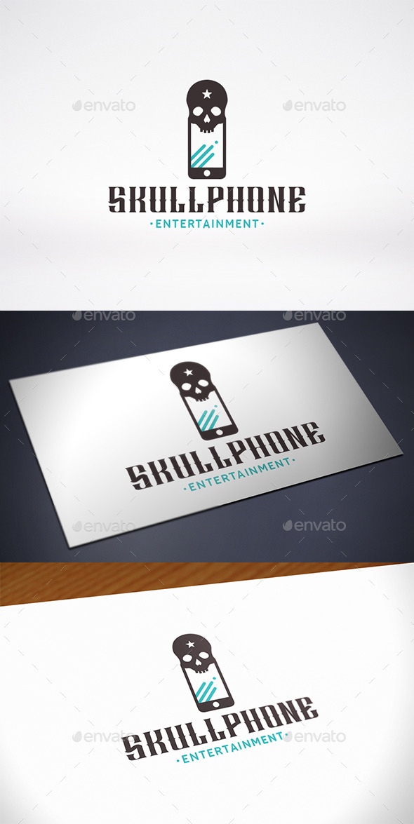 GraphicRiver Skull Phone Logo Template 11515350