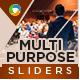Multipurpose Sliders - 2 Color Variations - GraphicRiver Item for Sale