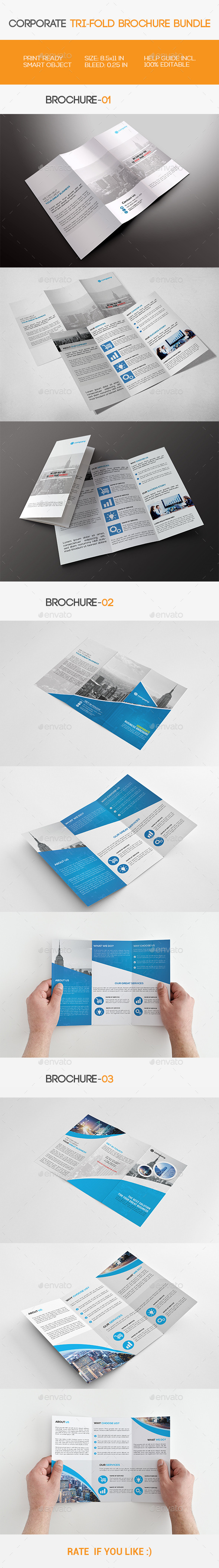 GraphicRiver Corporate Tri-fold Brochure Bundle 11515699