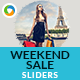 Weekend Sale Sliders - 2 Designs - GraphicRiver Item for Sale