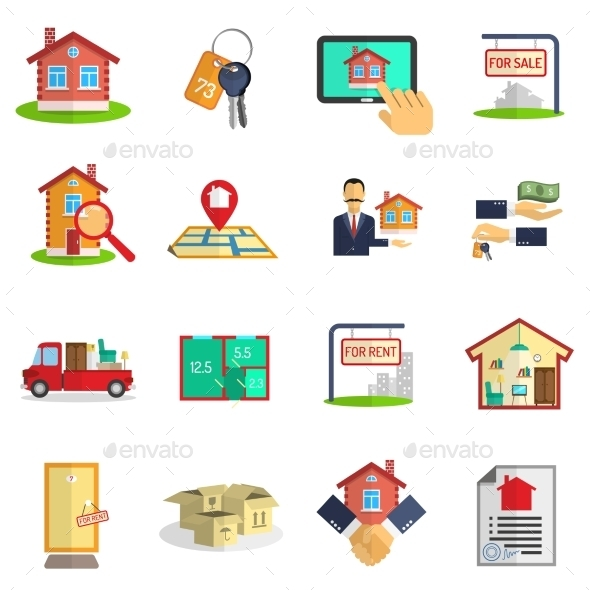 GraphicRiver Real Estate Icons Set 11515744