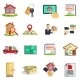 Real Estate Icons Set - GraphicRiver Item for Sale