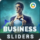 Business Sliders - 4 Designs - GraphicRiver Item for Sale