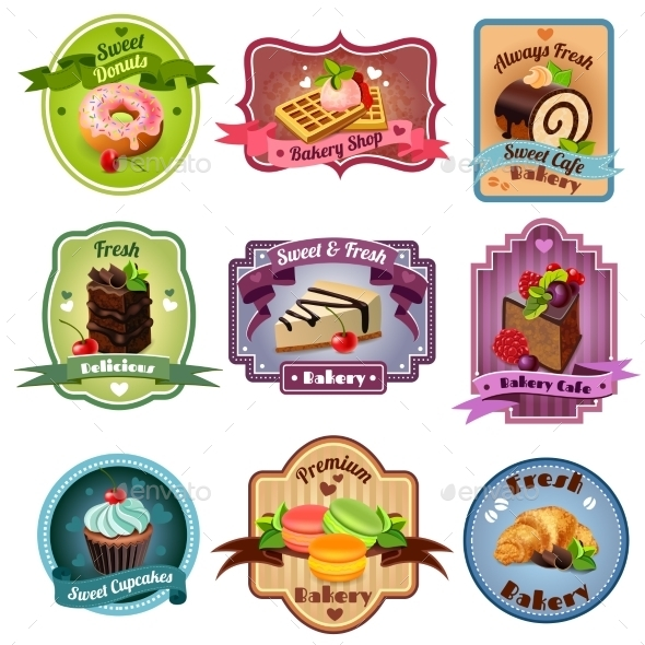 GraphicRiver Bakery Emblems Set 11515756