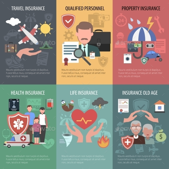 GraphicRiver Insurance Poster Set 11515759