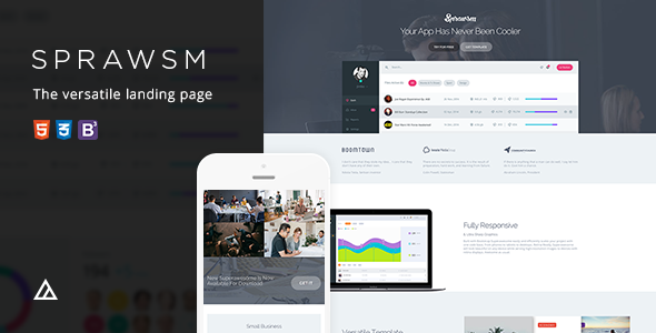 Superawesome - Retina Bootstrap 3 App Landing Page