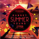 Sunset Summer Sound Flyer Template - GraphicRiver Item for Sale