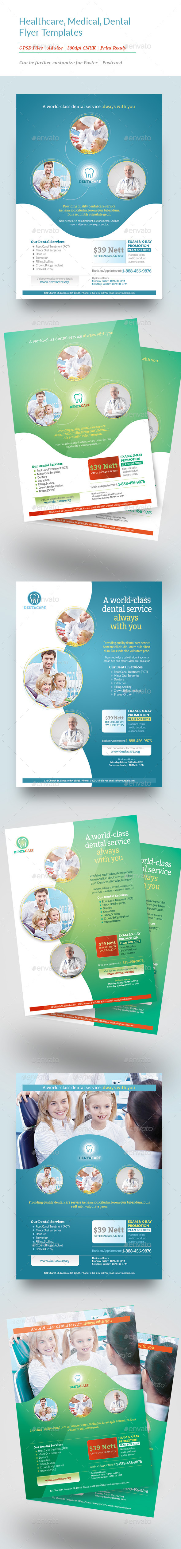 GraphicRiver Healthcare Medical Dental Flyer Templates 11515858