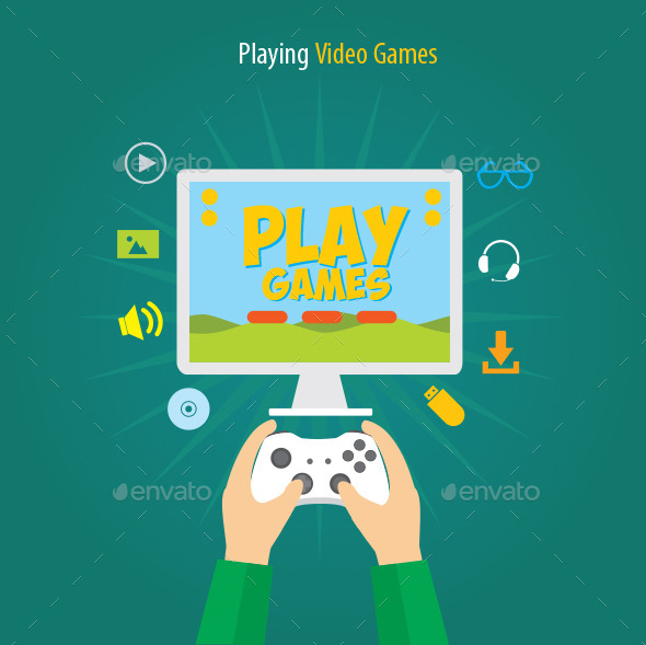 GraphicRiver Playing Video Games 11515962