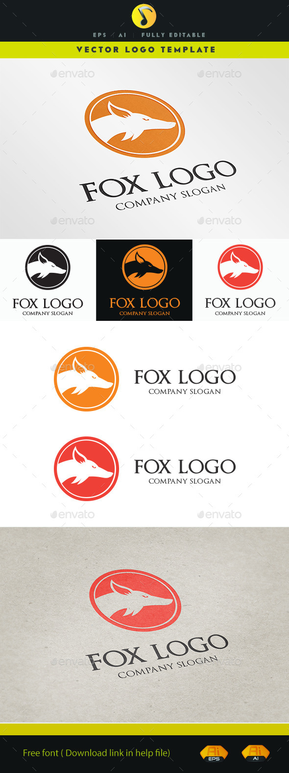 GraphicRiver Fox Logo 11516199