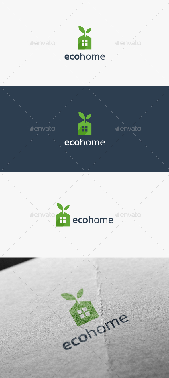 GraphicRiver Eco Home Logo Template 11516278