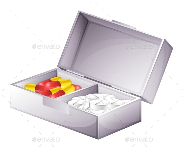 GraphicRiver A Medicine Kit with Capsules and Tablets 11516281
