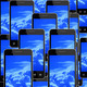 smart-phones with image of blue sky - PhotoDune Item for Sale