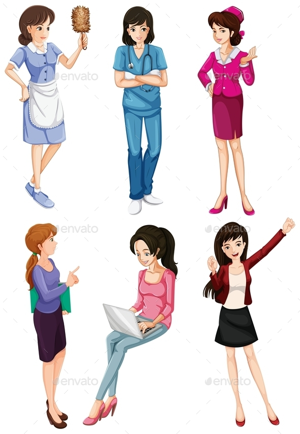 GraphicRiver Ladies with Different Professions 11516286