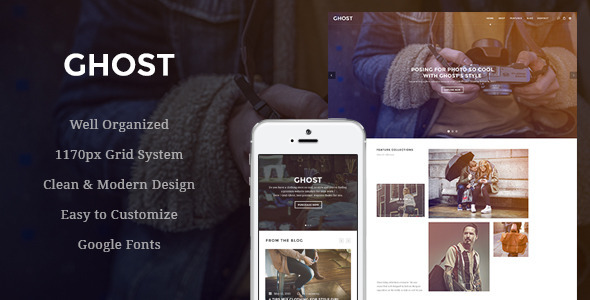 ThemeForest Ghost Fashion eCommerce PSD Template 11516709