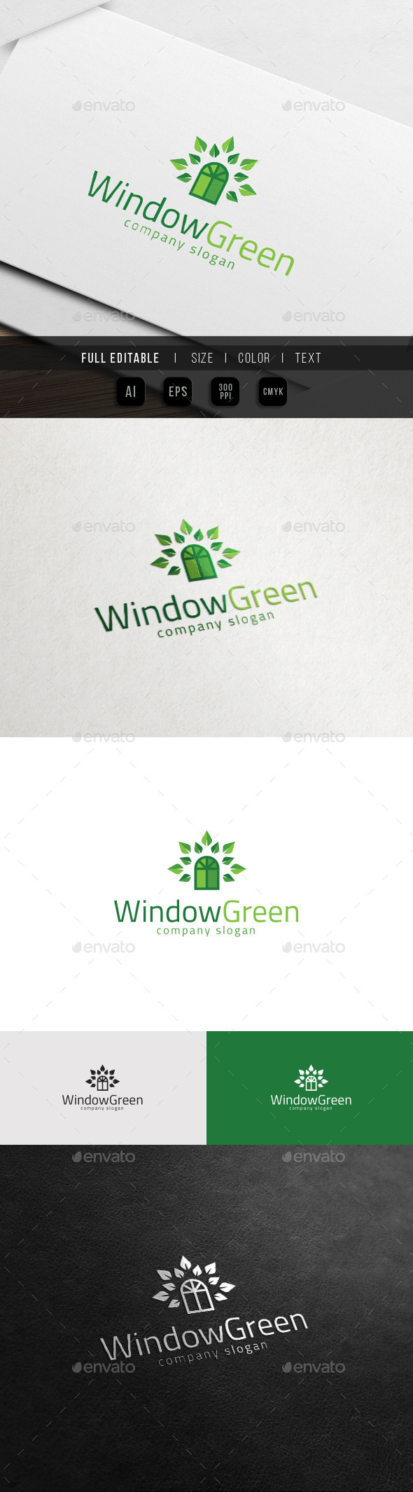 GraphicRiver Window Green Eco Property Home Charity Logo 11516713