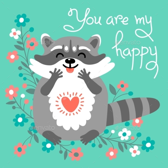 GraphicRiver Raccoon Confesses His Love 11516765