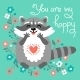 Raccoon Confesses His Love. - GraphicRiver Item for Sale