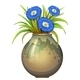 A Pot with Blue Flowers - GraphicRiver Item for Sale