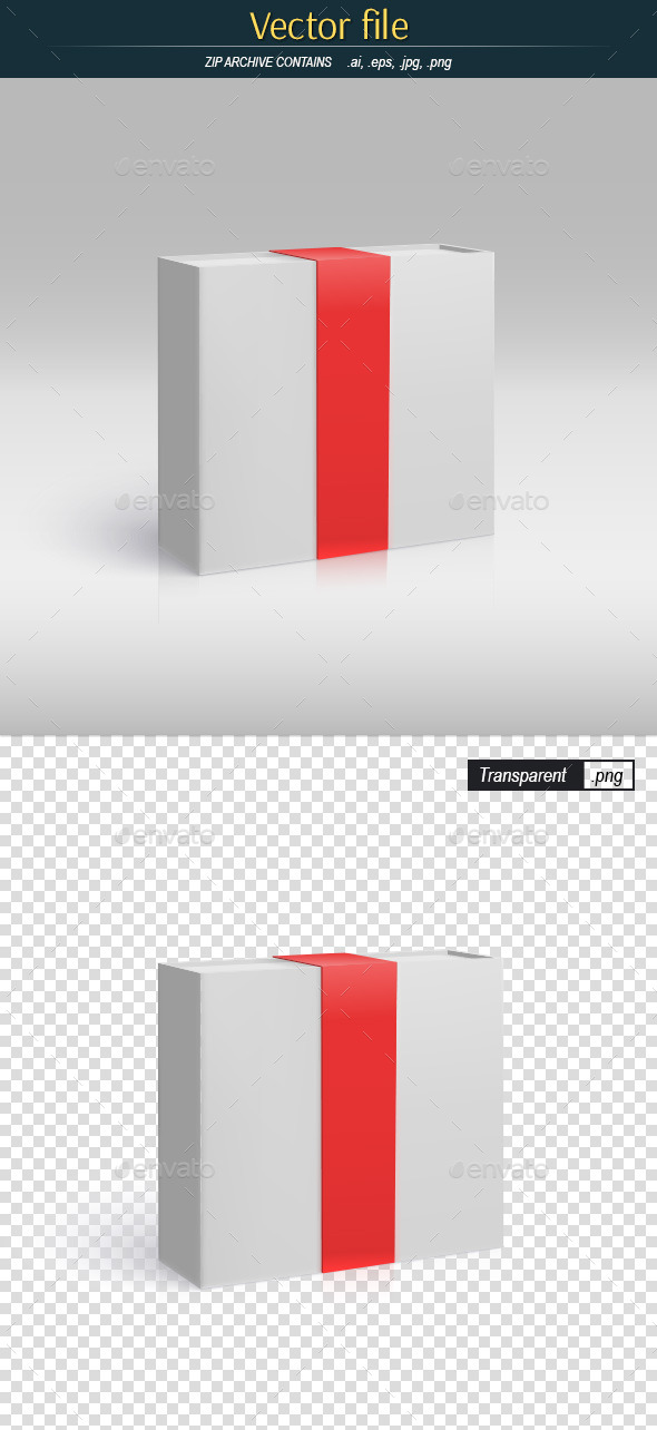 GraphicRiver Box with Red Ribbon Template 11522185