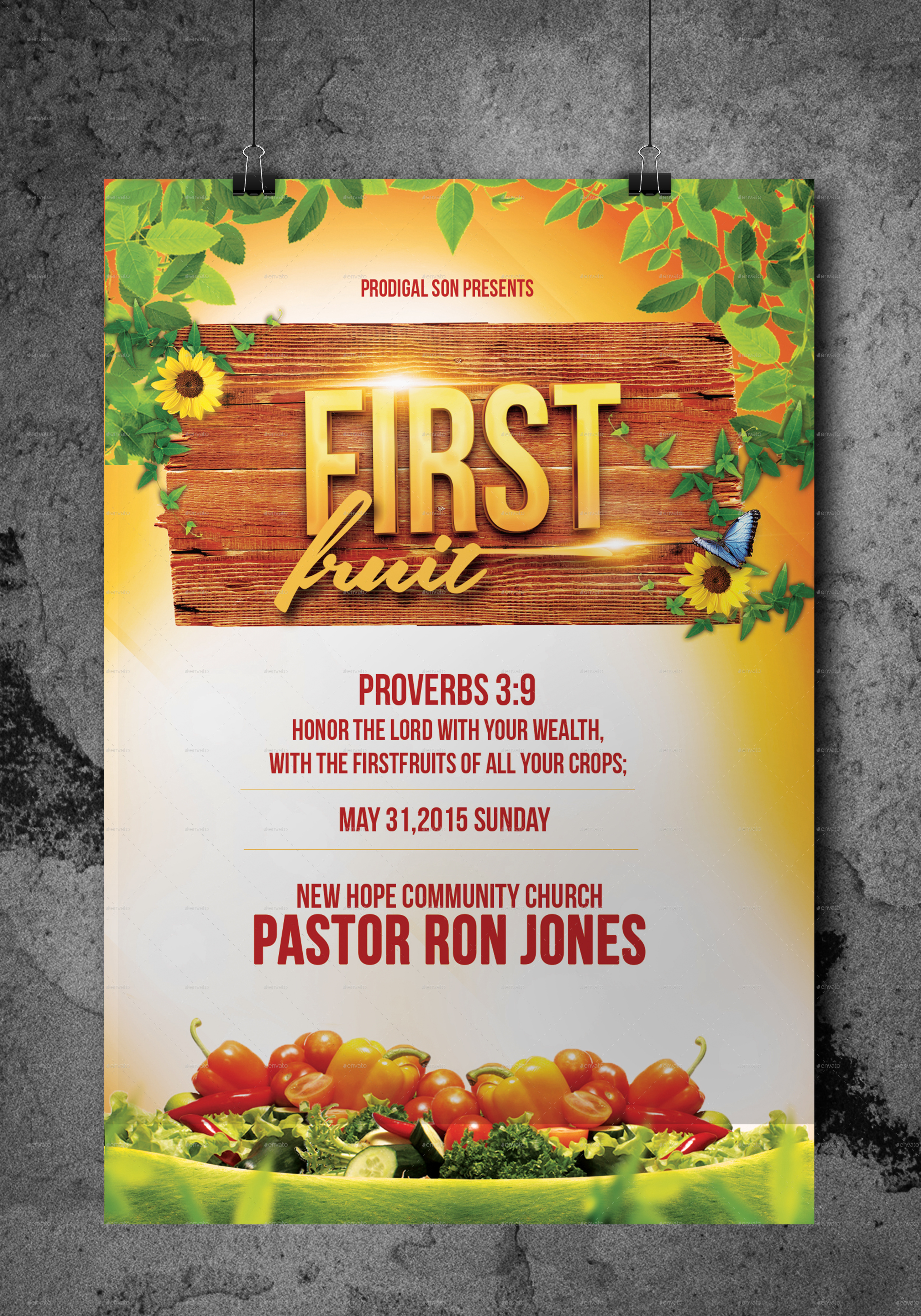 first fruit church flyer by kill bill graphicriver preview 1 jpg