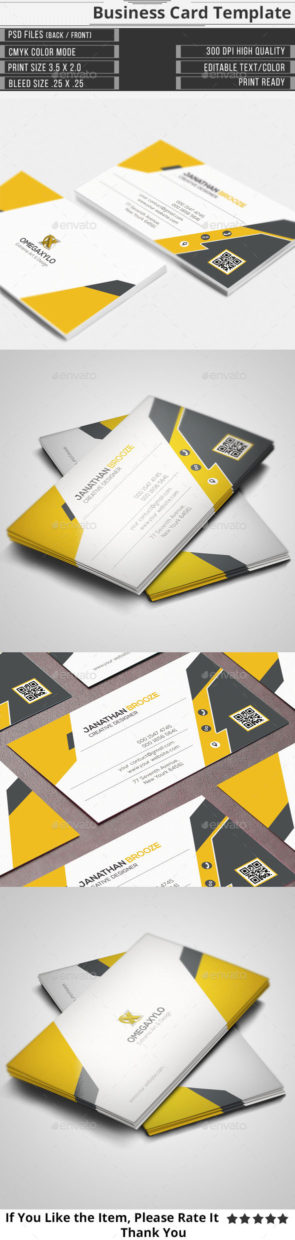 GraphicRiver Corporate Business Card 11522557