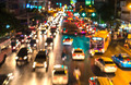 abstact blur bokeh of Evening traffic jam on road in city. - PhotoDune Item for Sale