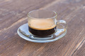 cup of espresso on woodentable background - PhotoDune Item for Sale
