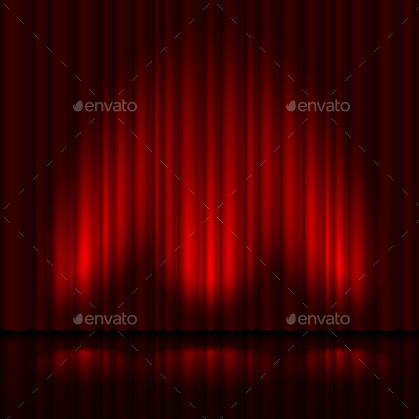 GraphicRiver Stage with Red Curtain 11522814