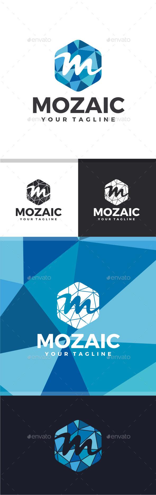 GraphicRiver Mozaic Letter M Logo 11523006