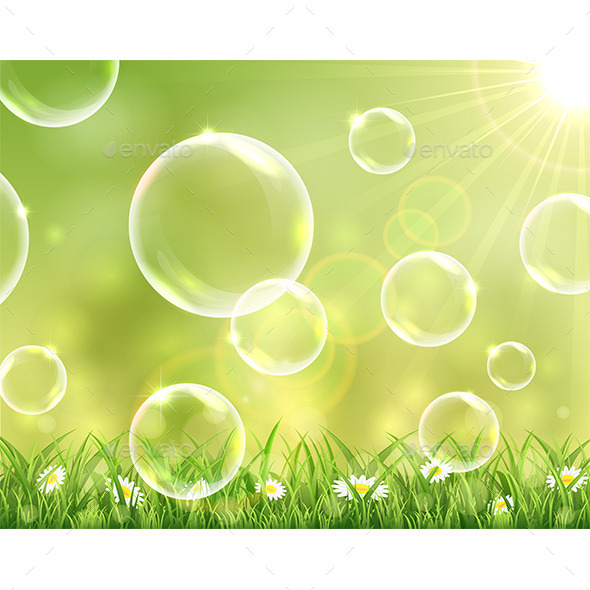 GraphicRiver Sunny Background with Flying Bubbles 11523327