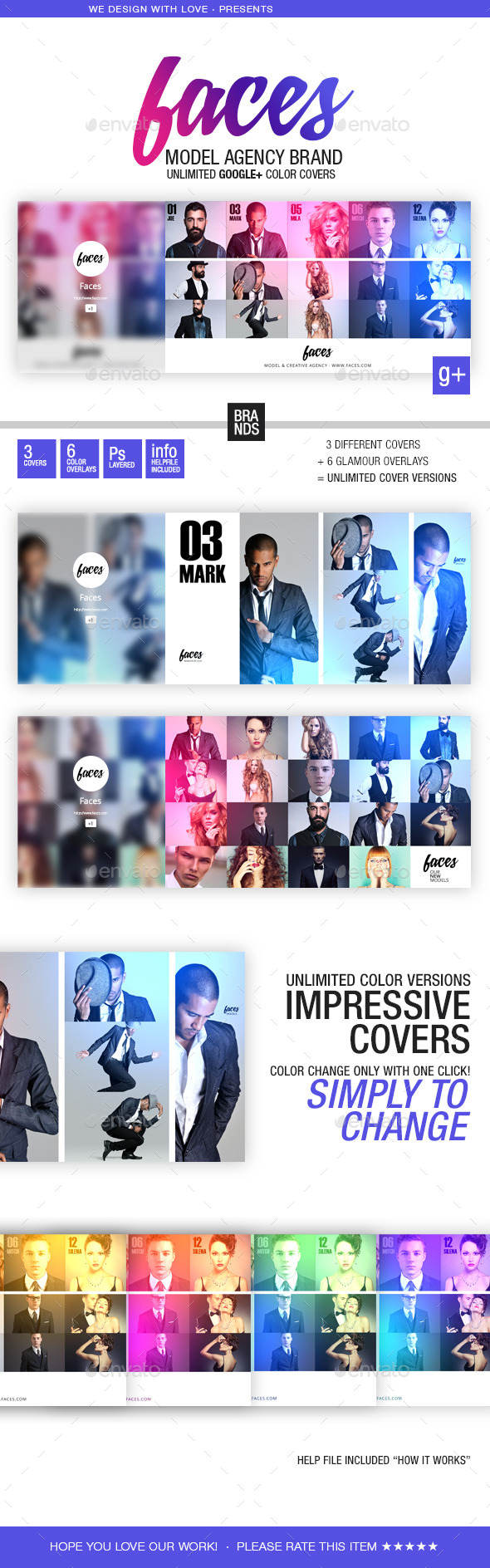 GraphicRiver faces Google& Cover Be a Brand 11523402