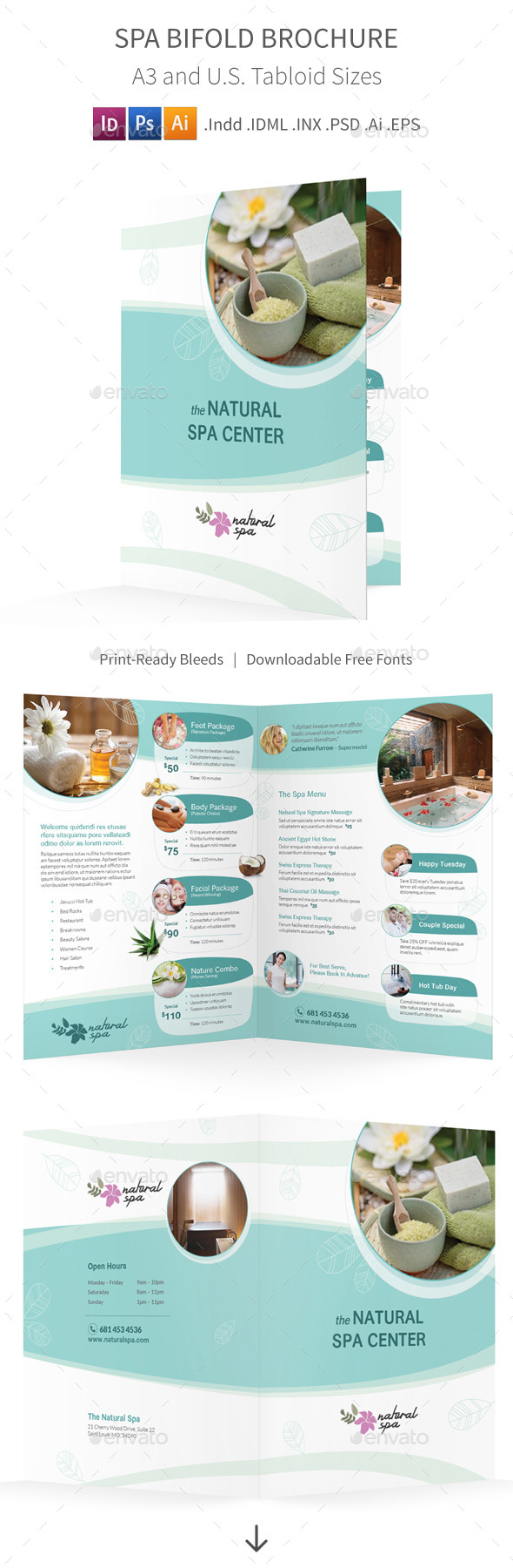GraphicRiver Spa Bifold Halffold Brochure 11523649