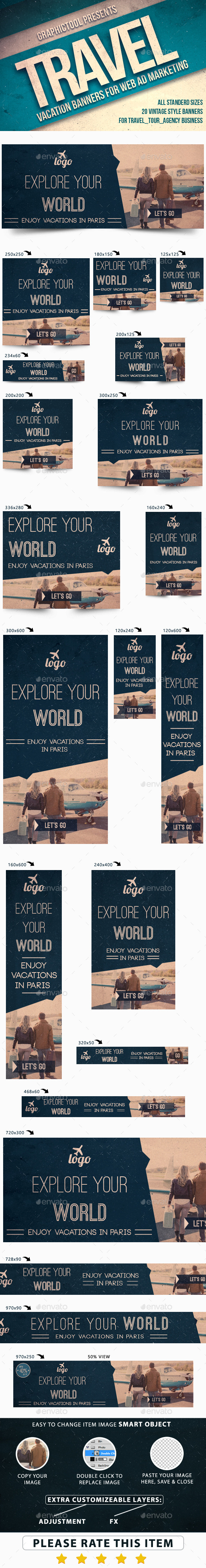 GraphicRiver Vintage Travel Web Ad Marketing Banners 11523667