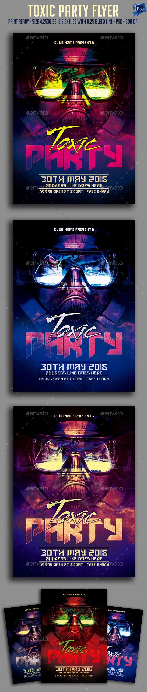 GraphicRiver Toxic Party Flyer 11523674