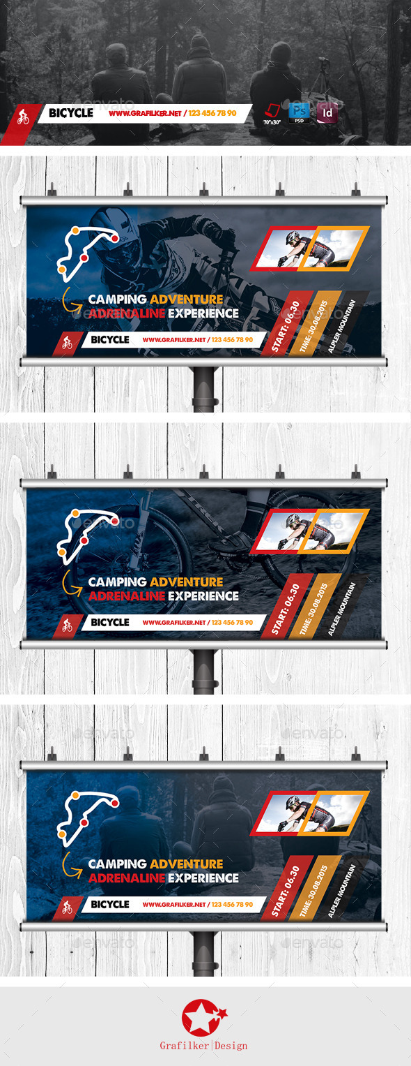 GraphicRiver Bicycle Racing Billboard Templates 11523681