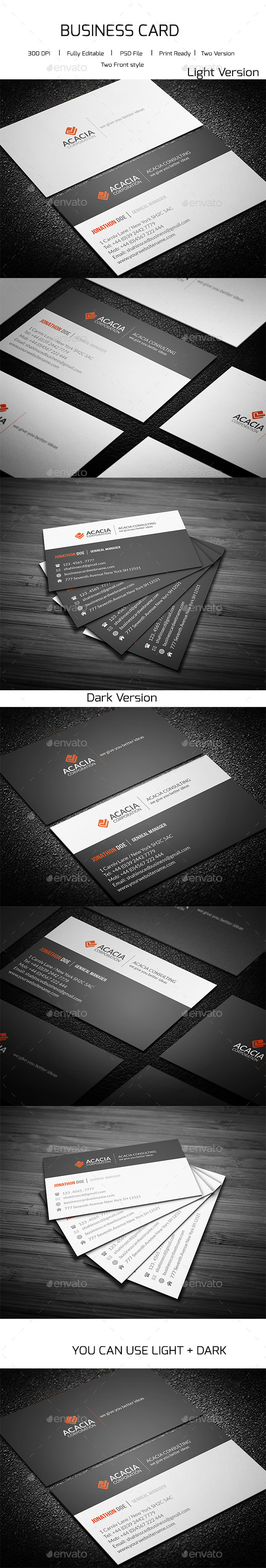 GraphicRiver Simple Consultancy Business Card 11523716