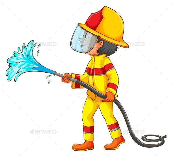 GraphicRiver A Drawing of a Fireman 11523789