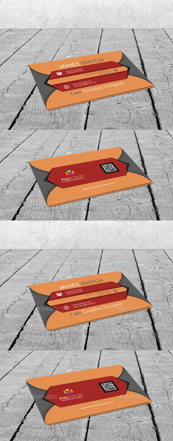 GraphicRiver Clean Cube V1 Business Card 11523981