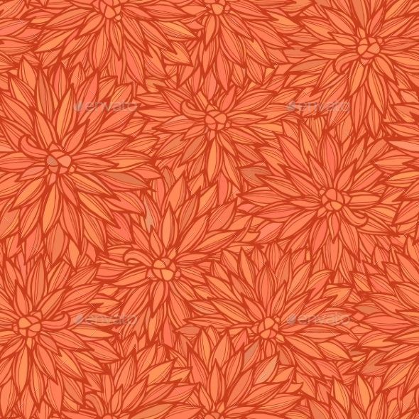 GraphicRiver Seamless Pattern With Flowers Dahlia 11524001