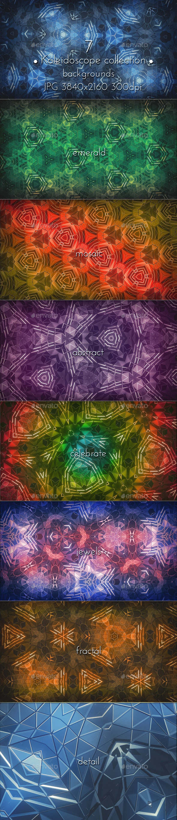 GraphicRiver Kaleidoscope Mosaic Patterns 11524176