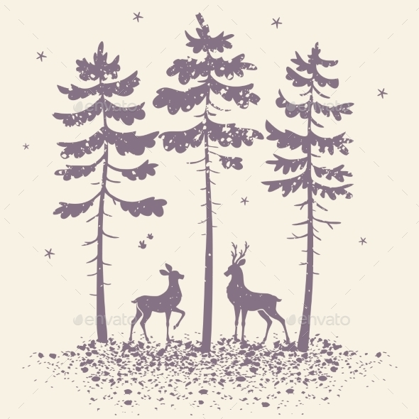 GraphicRiver Deer And Forest 11524472