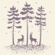 Deer And Forest - GraphicRiver Item for Sale