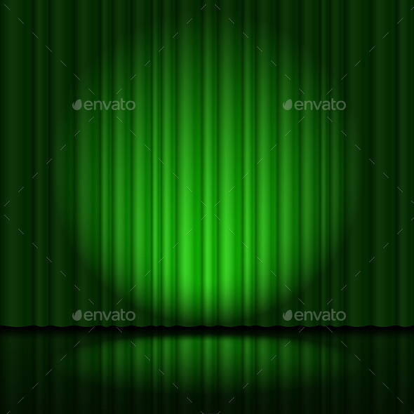 GraphicRiver Stage with Green Curtain 11524543