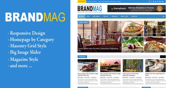ThemeForest Brand Mag Responsive Blogger Template 11447278